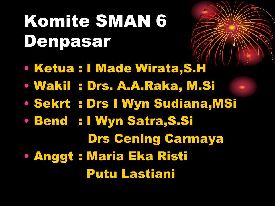 Komite SMAN 6 Denpasar Ketua : I Made Wirata,S.H Wakil : Drs.