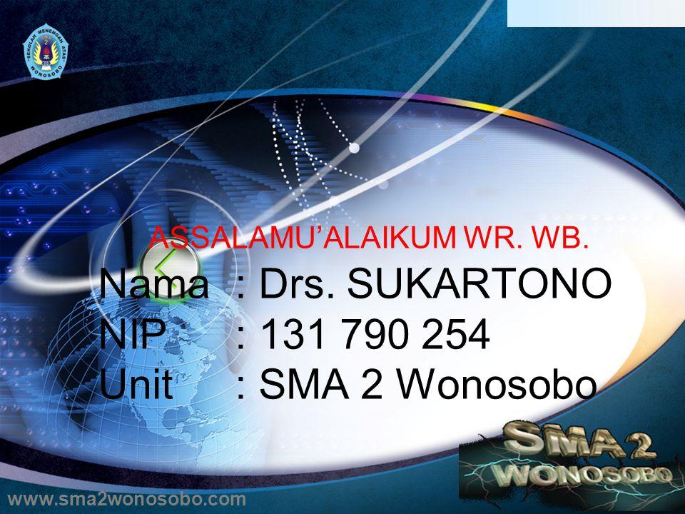 ASSALAMU'ALAIKUM WR.WB. Nama: Drs.