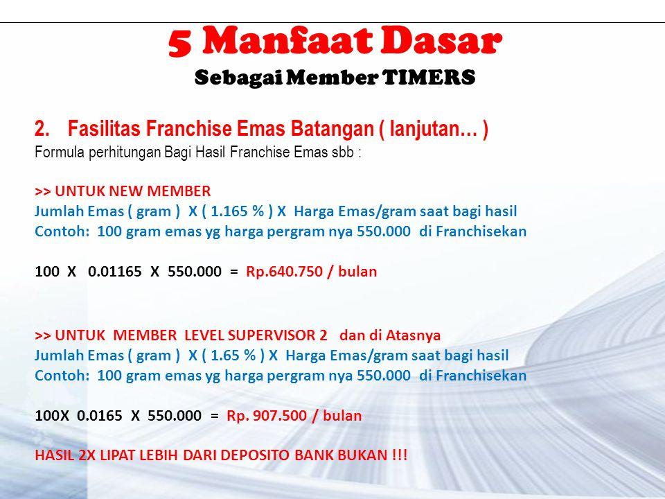 5 Manfaat Dasar Sebagai Member TIMERS 3.