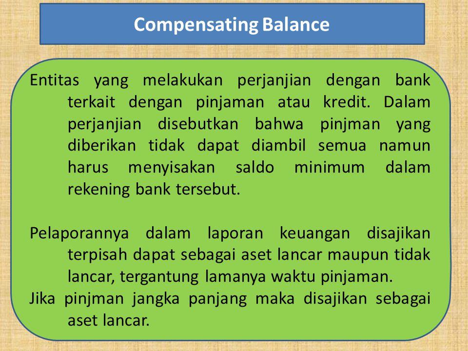 Entitas yang melakukan perjanjian dengan bank terkait dengan pinjaman atau kredit. Dalam perjanjian disebutkan bahwa pinjman yang diberikan tidak dapa