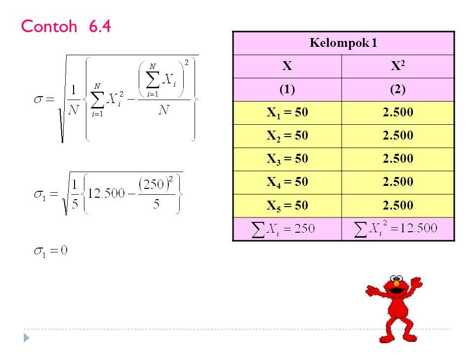 Untuk data berkelompok ada 2 (dua) cara : 1.NJ = Nilai tengah kelas terakhir – Nilai tengah kelas pertama 2.NJ = Tepi atas kelas terakhir – Tepi bawah kelas pertama Nilai jarak