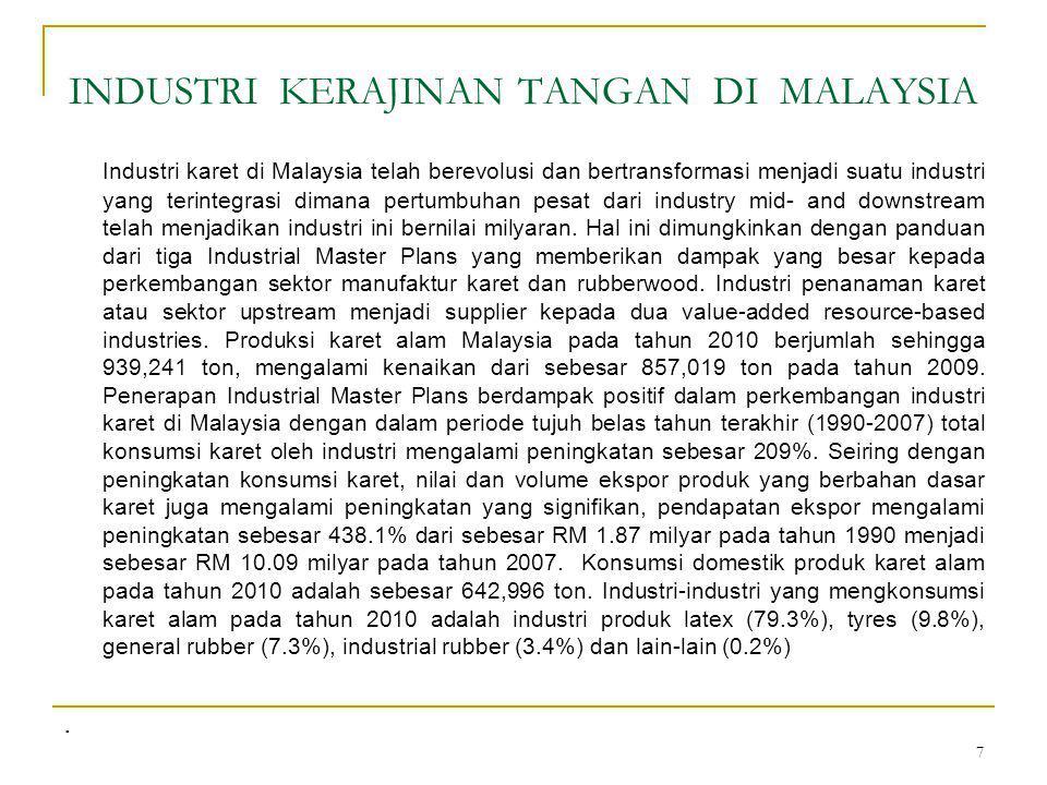 18 Standar Produk Standard Malaysian Gloves (SMG) Standard Malaysian Glove (SMG) merupaka skema sertifikasi produk yang diformulasikan oleh Malaysian Rubber board (MRB) dan Malaysian Rubber Glove Manufacturers's Association (MARGMA), untuk menyediakan kepastian kualitas produk sarung tangan yang low-protein yang powdered atau powder-free.