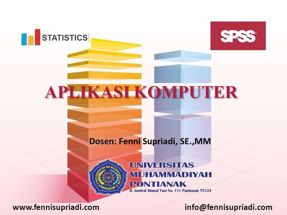 www.fennisupriadi.cominfo@fennisupriadi.com 3.Melihat perbedaan yang berarti antara proporsi yang diamati dengan proporsi yang diharapkan 4.Mengetahui apakah sampel telah ditarik dari suatu populasi tertentu 5.Mengetahui apakah sampel adalah sampel random dari populasi tertentu Uji Binomial