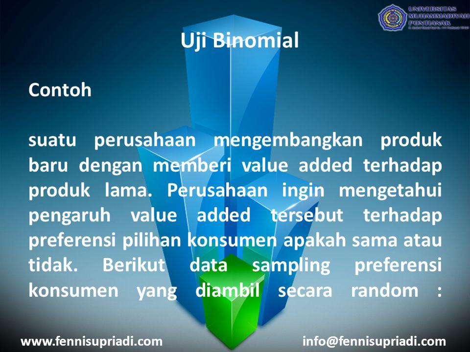 www.fennisupriadi.cominfo@fennisupriadi.com Contoh suatu perusahaan mengembangkan produk baru dengan memberi value added terhadap produk lama. Perusah