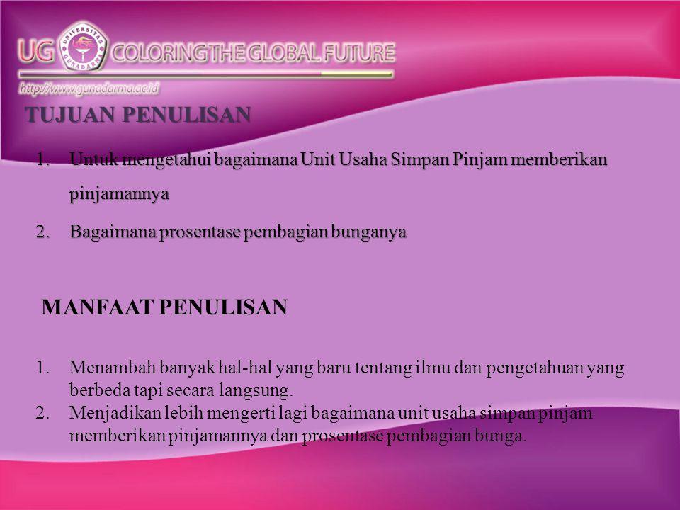Pada tanggal 20 Maret 2007 Bpk Andi mendapat persetujuan pinjaman senilai Rp.