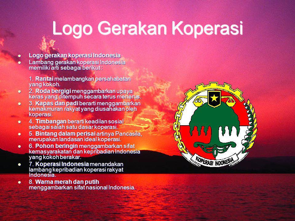 Logo Gerakan Koperasi Logo gerakan koperasi Indonesia Logo gerakan koperasi Indonesia Lambang gerakan koperasi Indonesia memiliki arti sebagai berikut : 1.