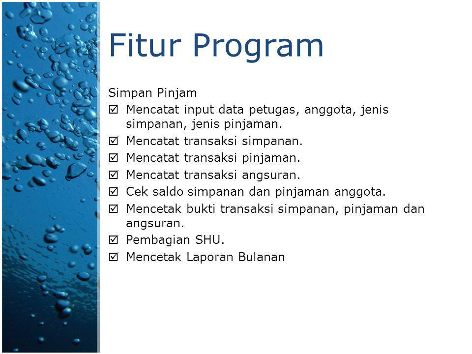 Review Program Transaksi Simpan Pinjam
