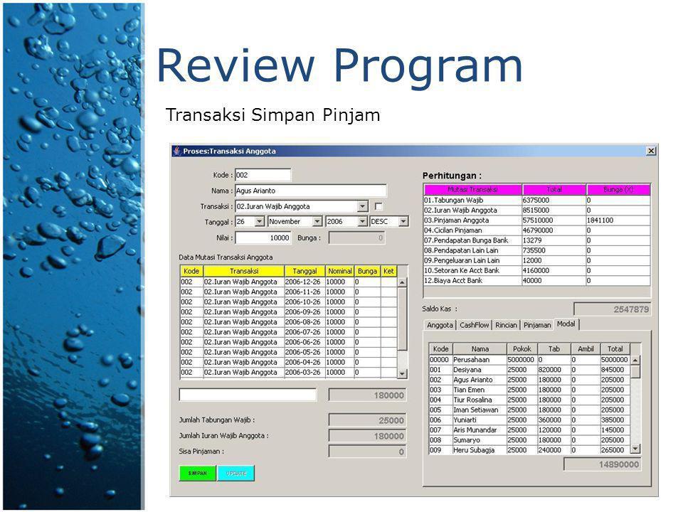 Fitur Program General Ledger  Input data kode Jurnal.