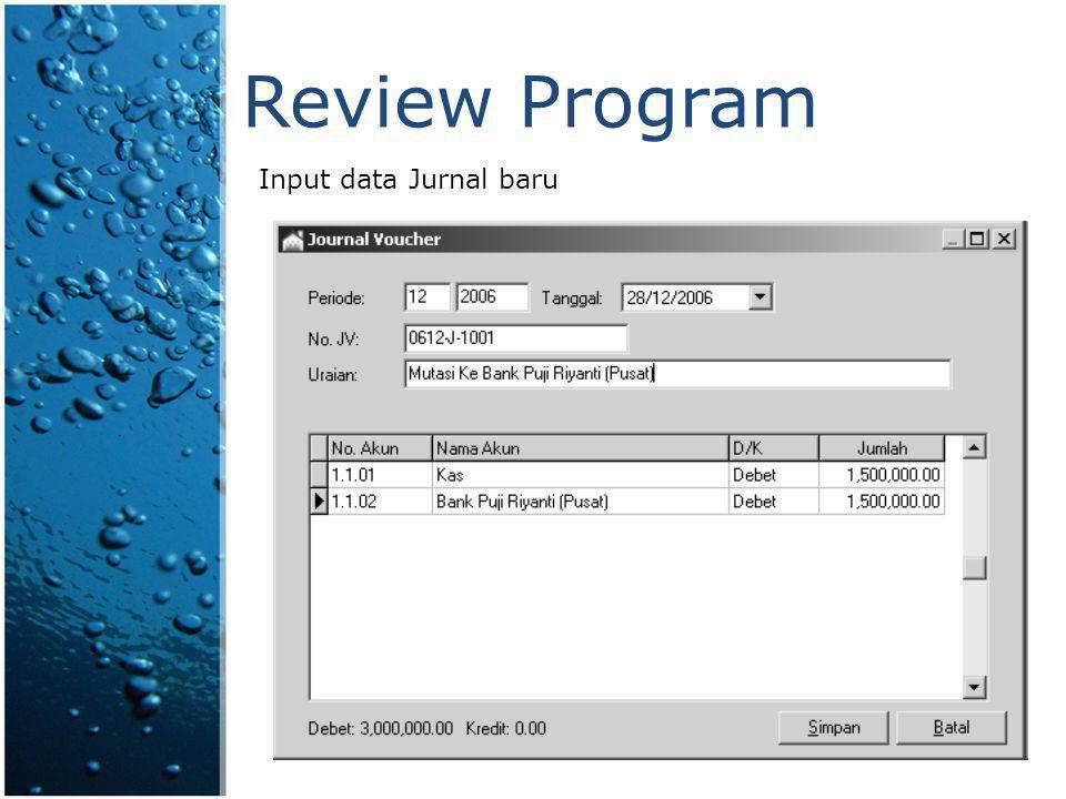 Fitur Program Payroll  Input data pegawai tetap & outsource.