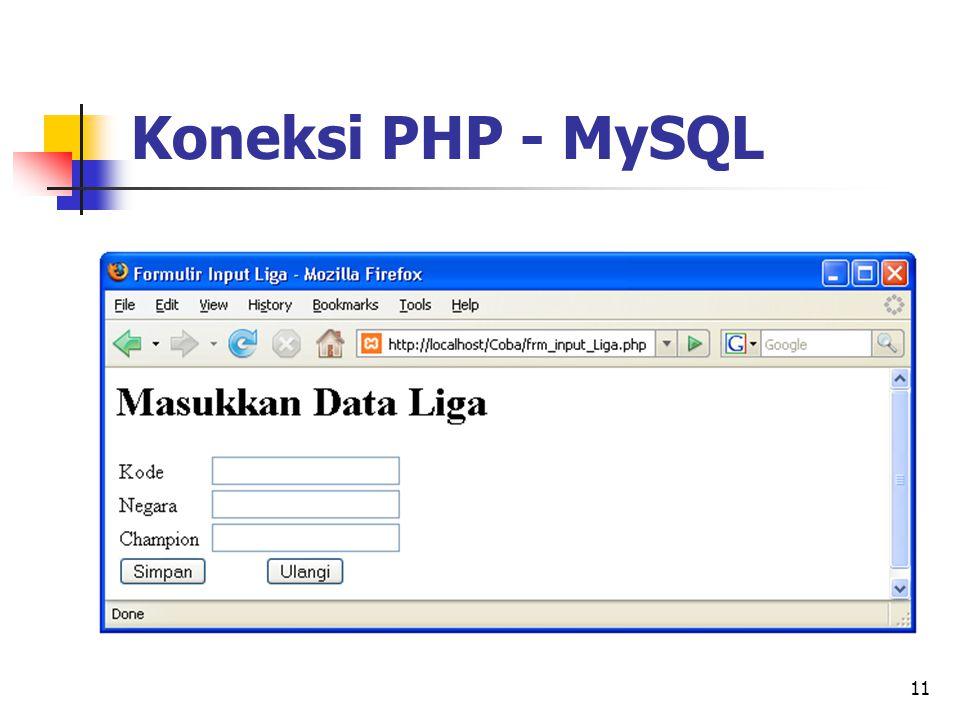 11 Koneksi PHP - MySQL