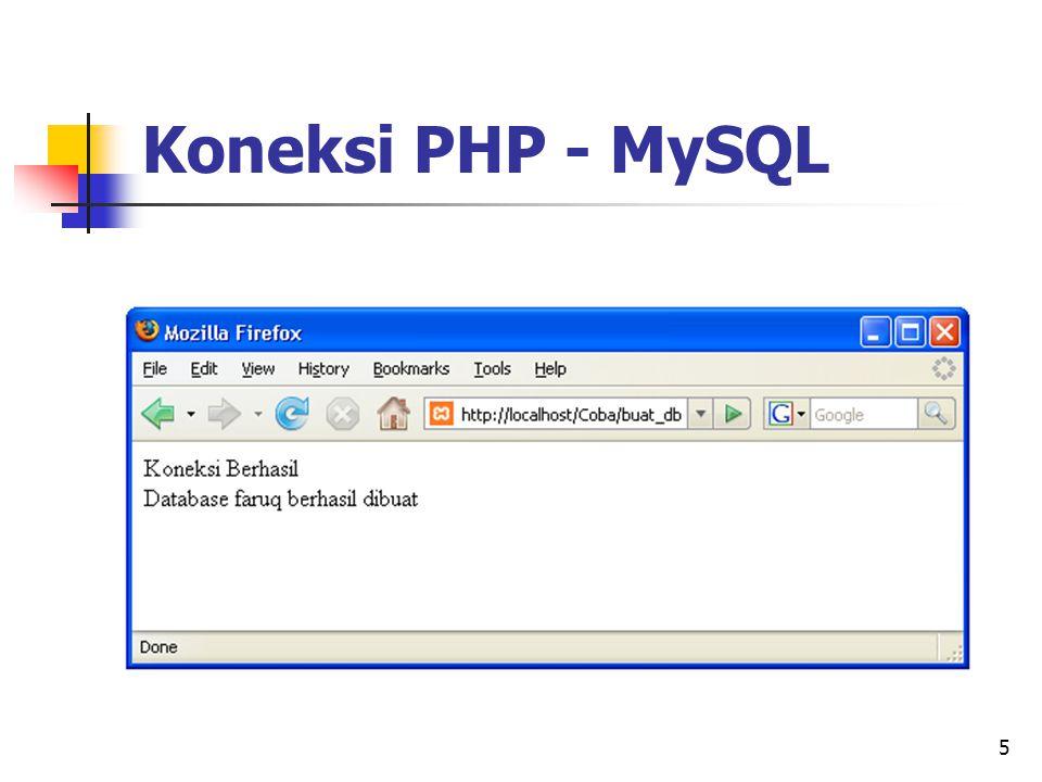 5 Koneksi PHP - MySQL