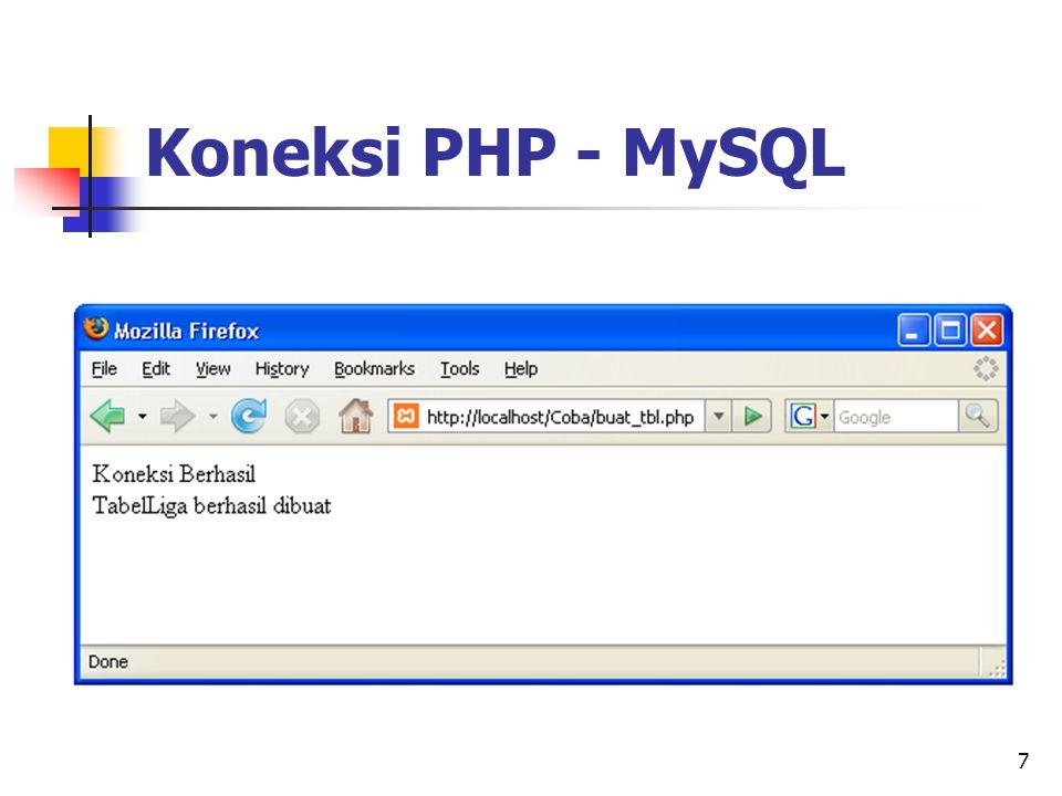 7 Koneksi PHP - MySQL