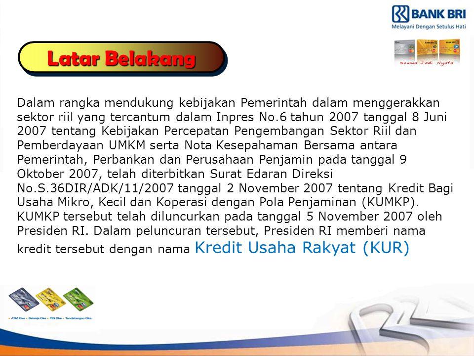 Dalam rangka mendukung kebijakan Pemerintah dalam menggerakkan sektor riil yang tercantum dalam Inpres No.6 tahun 2007 tanggal 8 Juni 2007 tentang Kebijakan Percepatan Pengembangan Sektor Riil dan Pemberdayaan UMKM serta Nota Kesepahaman Bersama antara Pemerintah, Perbankan dan Perusahaan Penjamin pada tanggal 9 Oktober 2007, telah diterbitkan Surat Edaran Direksi No.S.36DIR/ADK/11/2007 tanggal 2 November 2007 tentang Kredit Bagi Usaha Mikro, Kecil dan Koperasi dengan Pola Penjaminan (KUMKP).