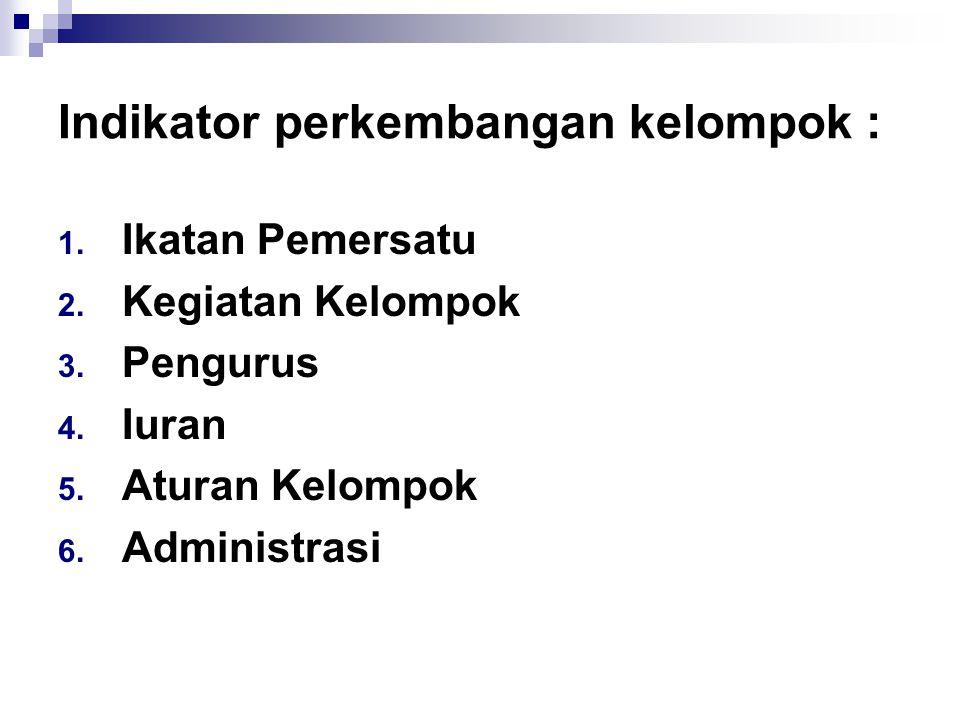 Kategori Fungsi Kelompok : 1.