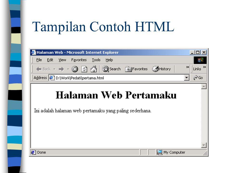 Tampilan Contoh HTML