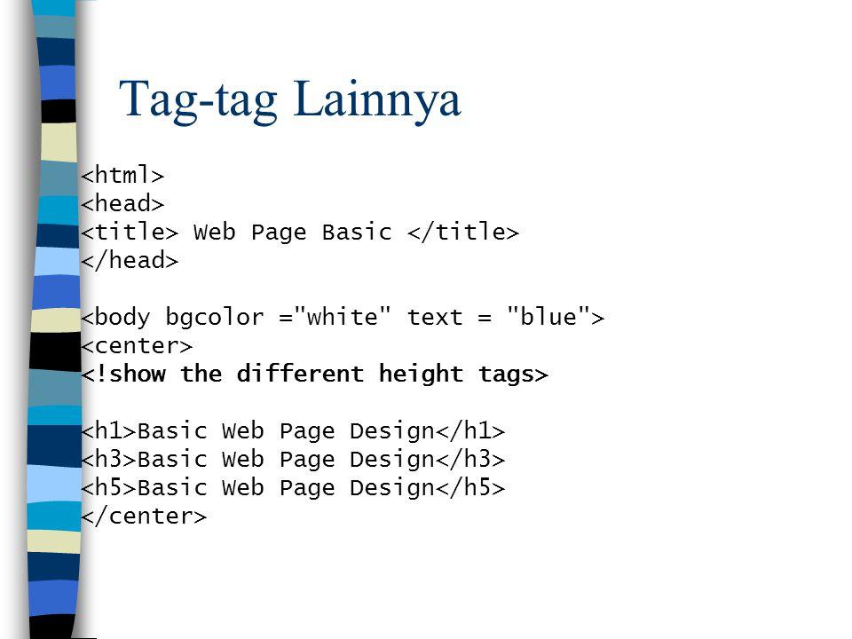 Tag-tag Lainnya Web Page Basic Basic Web Page Design