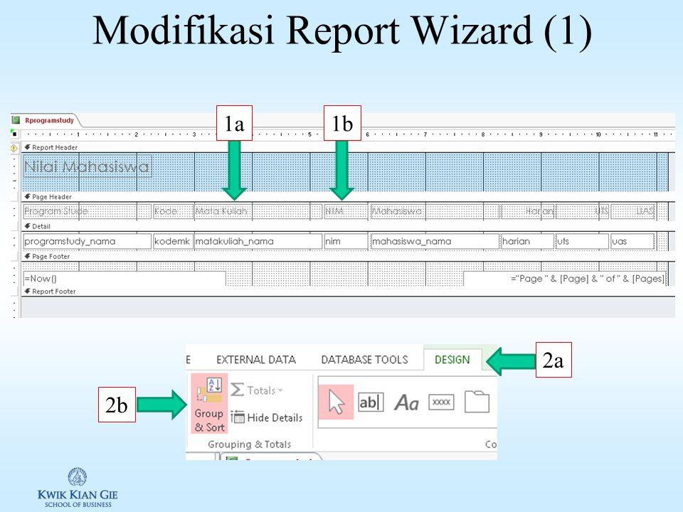Menggunakan Report Wizard (4) 7