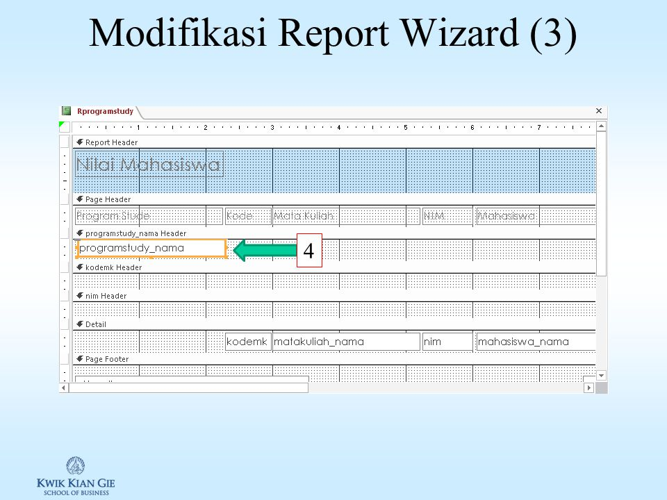 Modifikasi Report Wizard (2) 3a 3b