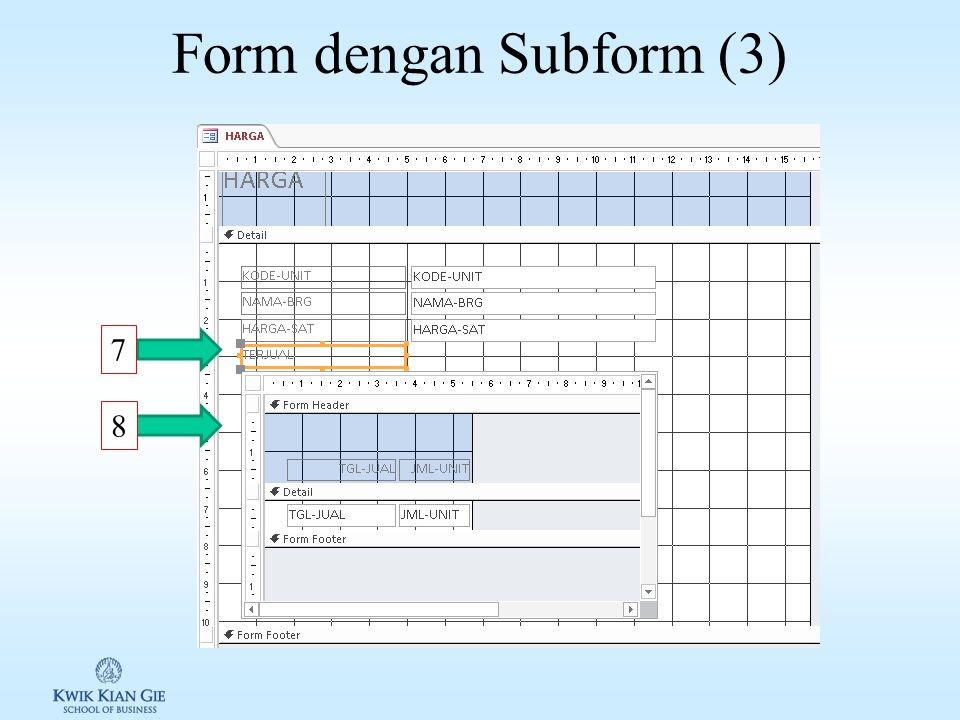Form dengan Subform (2) 4 5 6