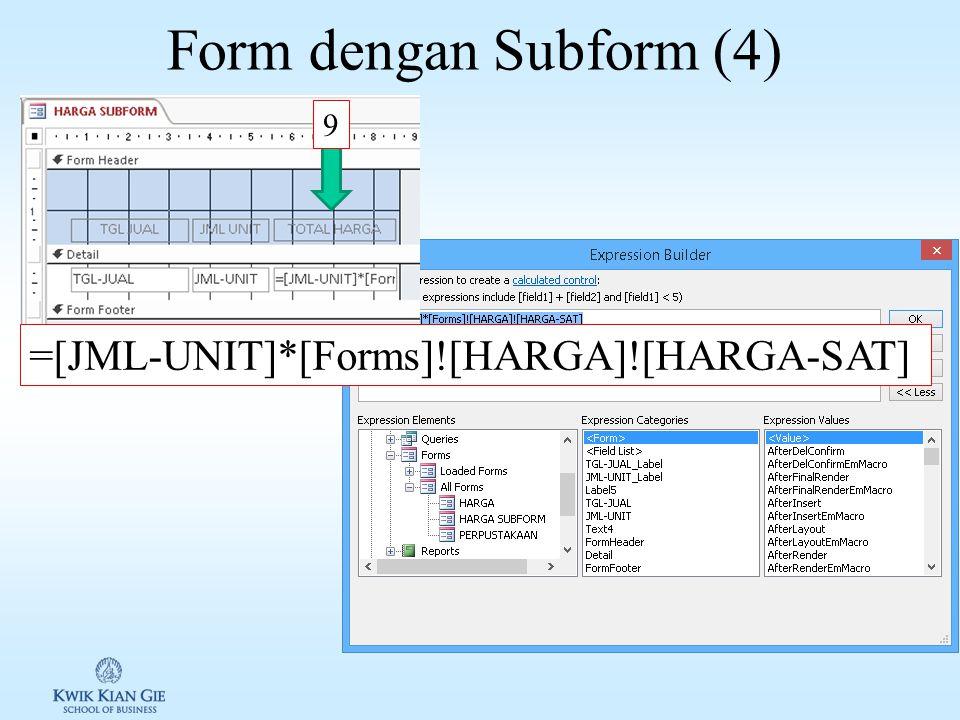 Form dengan Subform (3) 7 8