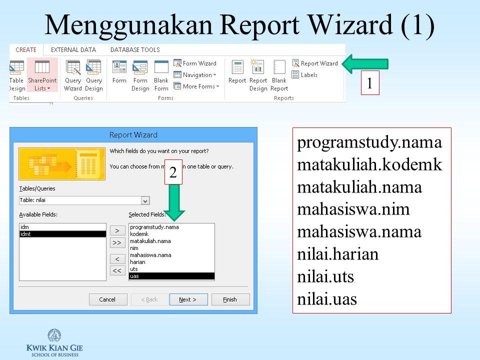 Merubah table header pada instan Report