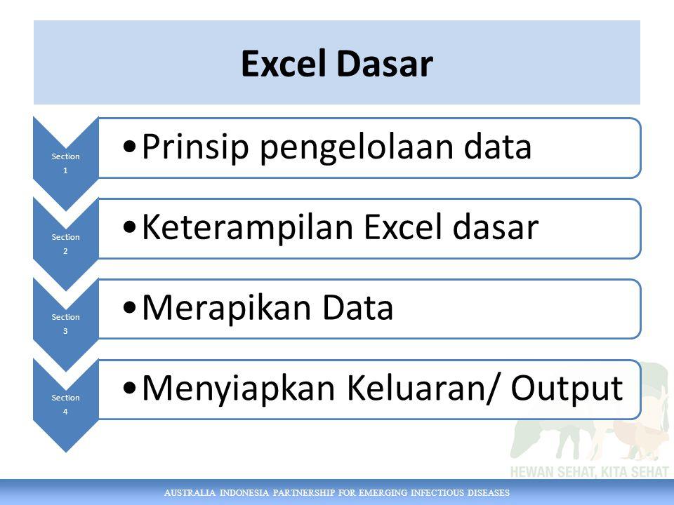 AUSTRALIA INDONESIA PARTNERSHIP FOR EMERGING INFECTIOUS DISEASES Ini Tampilannya (Excel 2007)