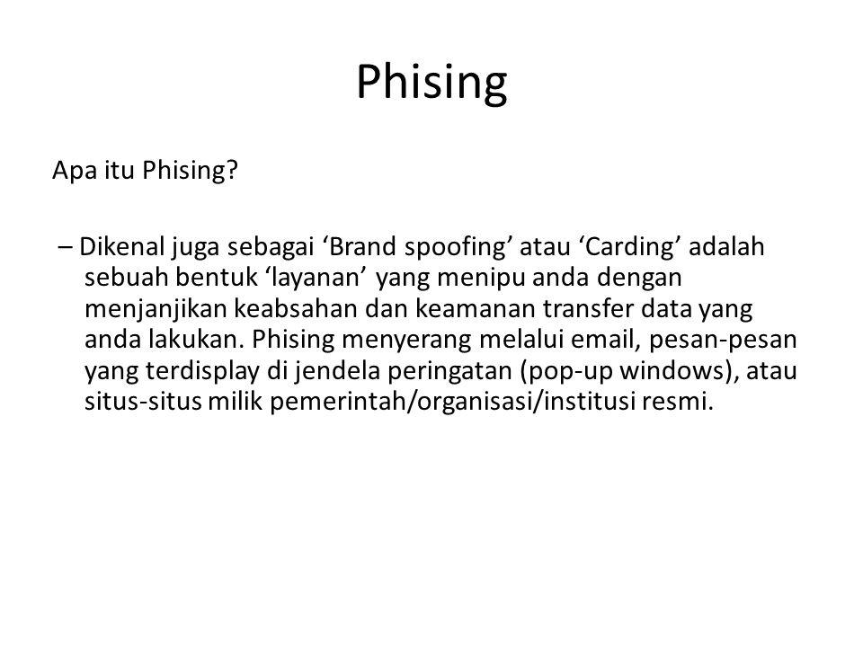 Phising Apa itu Phising.