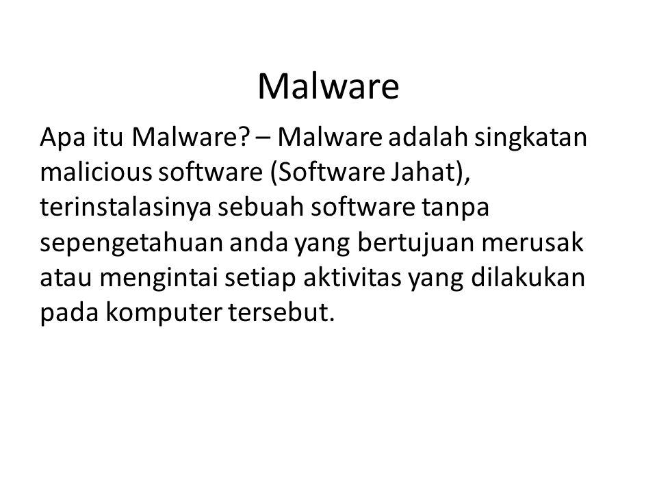 Malware Apa itu Malware.