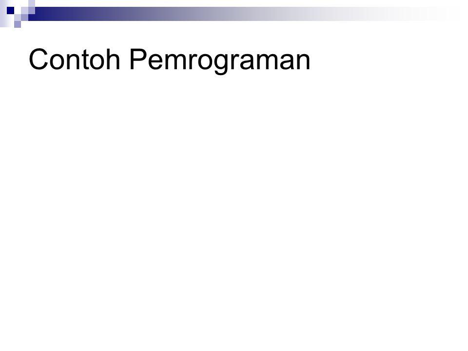 Contoh Pemrograman