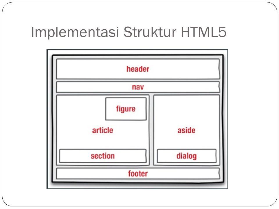 Implementasi Struktur HTML5