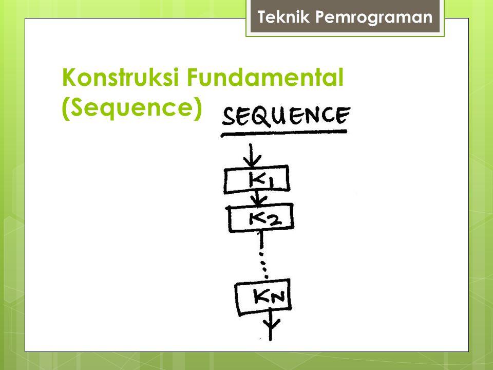 Konstruksi Fundamental (Sequence) Teknik Pemrograman