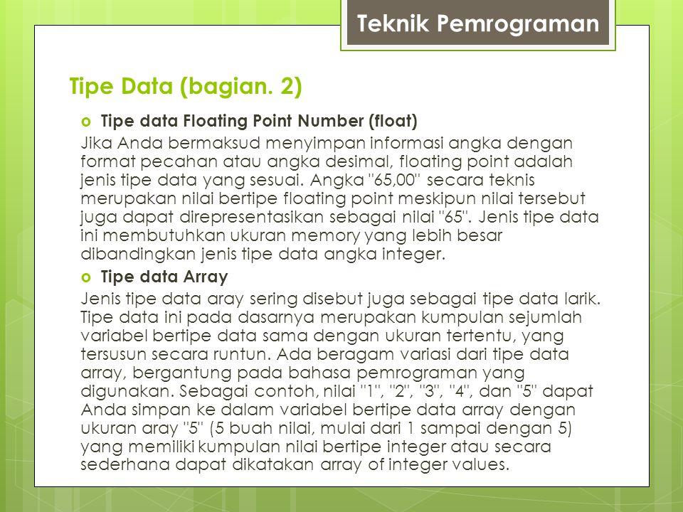 Tipe Data (bagian.