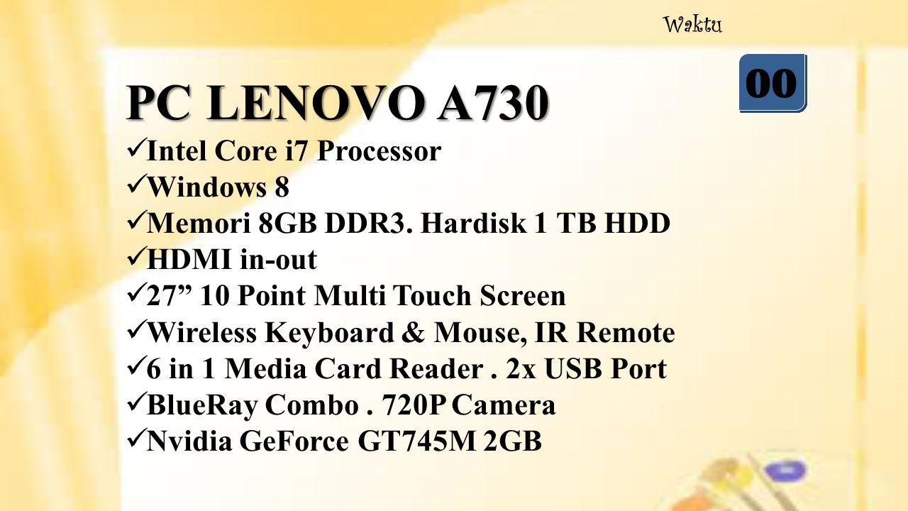 05 04 03 02 01 00 Waktu Beberapa Contoh Sistem Operasi Komputer adalah : 1.