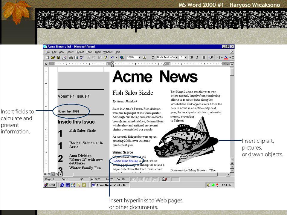Sekian Bersambung ke MS Word 2000 Bagian #2