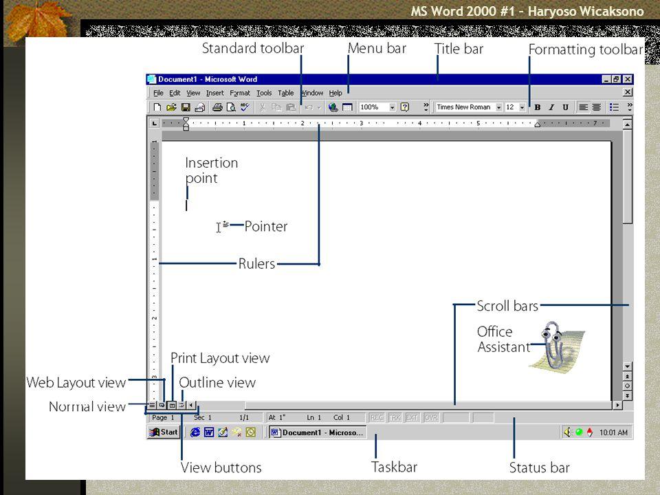 MS Word 2000 #1 – Haryoso Wicaksono 17 File Page Setup