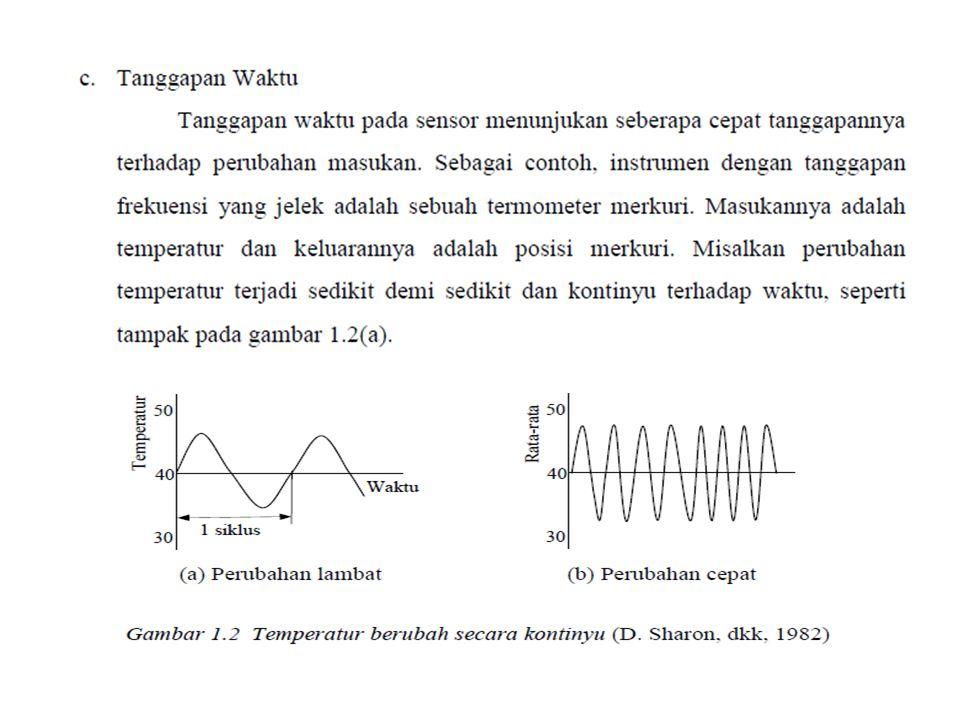 Keuntungan transduser listrik a.Output listrik dapat diperkuat menurut keperluan b.