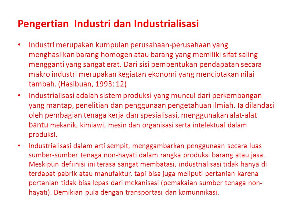 Industri merupakan kumpulan perusahaan-perusahaan yang menghasilkan barang homogen atau barang yang memiliki sifat saling mengganti yang sangat erat.