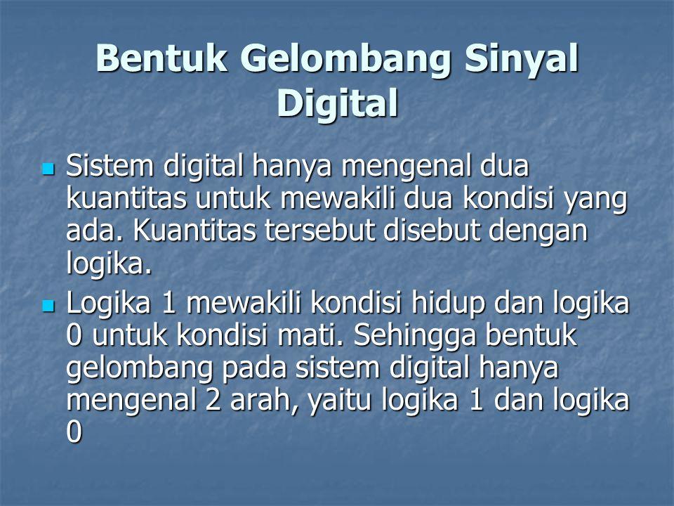 Sistem digital hanya mengenal dua kuantitas untuk mewakili dua kondisi yang ada. Kuantitas tersebut disebut dengan logika. Sistem digital hanya mengen