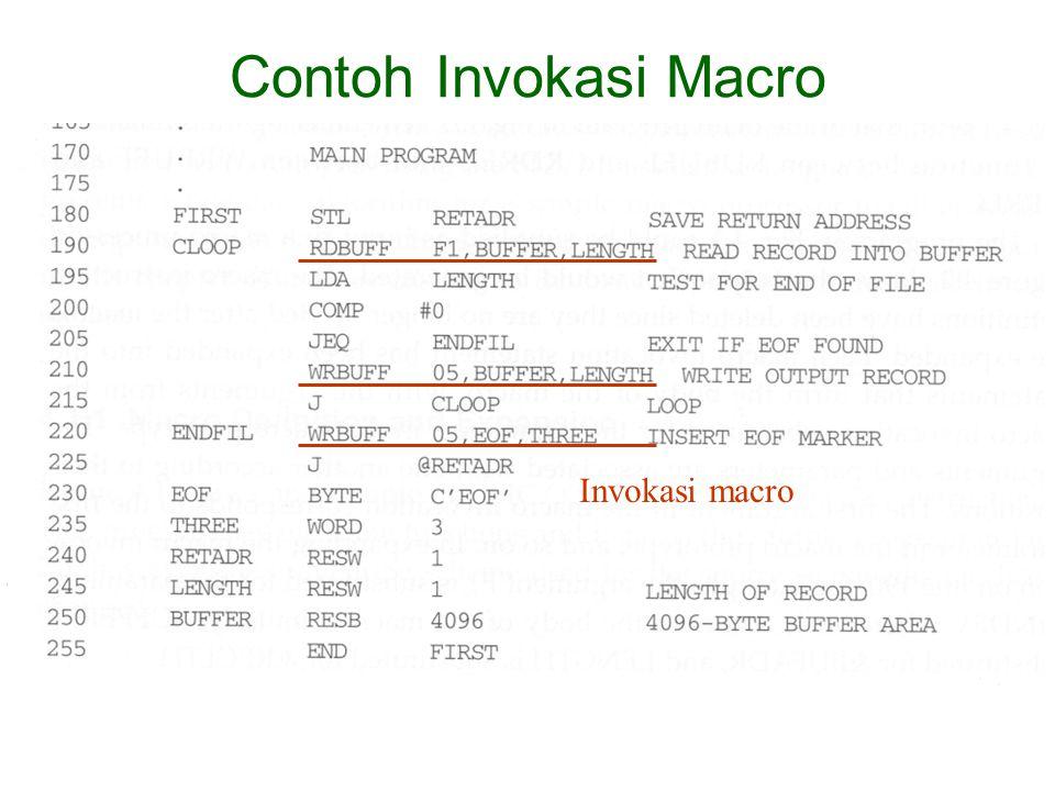 Invokasi macro Contoh Invokasi Macro