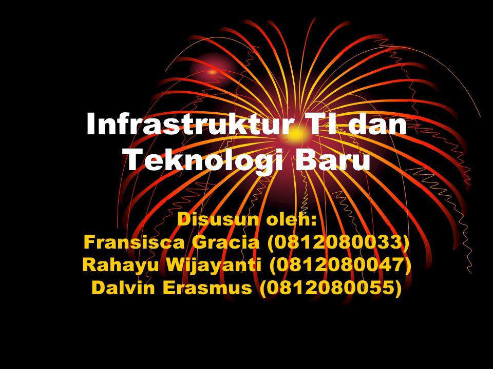 Infrastruktur TI dan Teknologi Baru Disusun oleh: Fransisca Gracia (0812080033) Rahayu Wijayanti (0812080047) Dalvin Erasmus (0812080055)