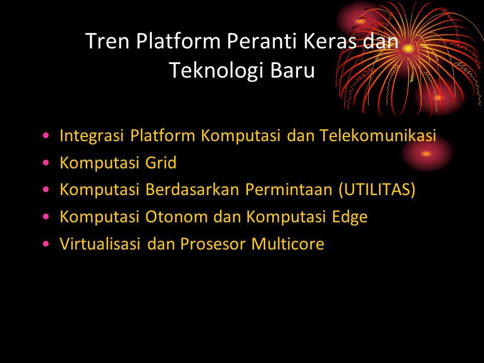 Tren Platform Peranti Keras dan Teknologi Baru Integrasi Platform Komputasi dan Telekomunikasi Komputasi Grid Komputasi Berdasarkan Permintaan (UTILIT