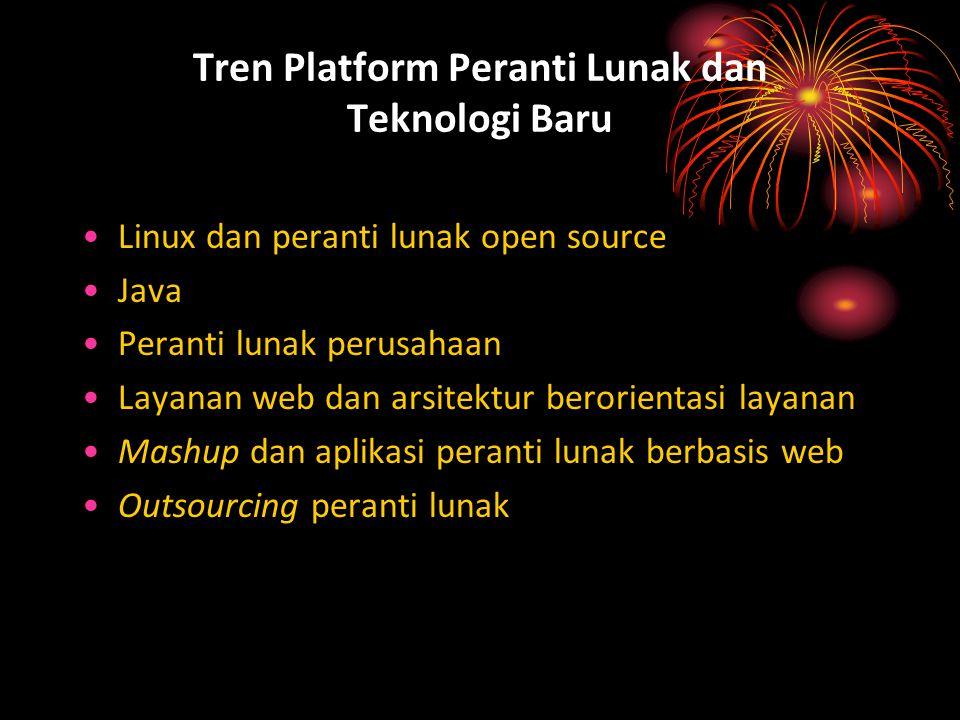 Tren Platform Peranti Lunak dan Teknologi Baru Linux dan peranti lunak open source Java Peranti lunak perusahaan Layanan web dan arsitektur berorienta