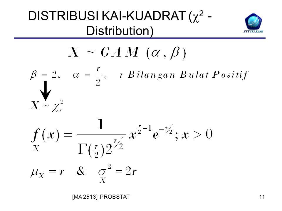 [MA 2513] PROBSTAT11 DISTRIBUSI KAI-KUADRAT (  2 - Distribution)