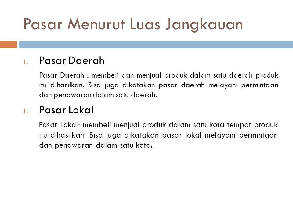 Pasar Menurut Luas Jangkauan 3.
