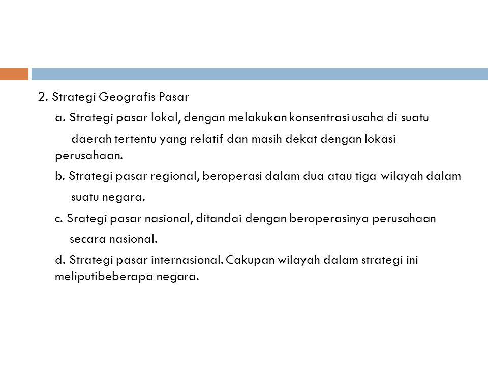 3.Strategi Memasuki Pasar a.