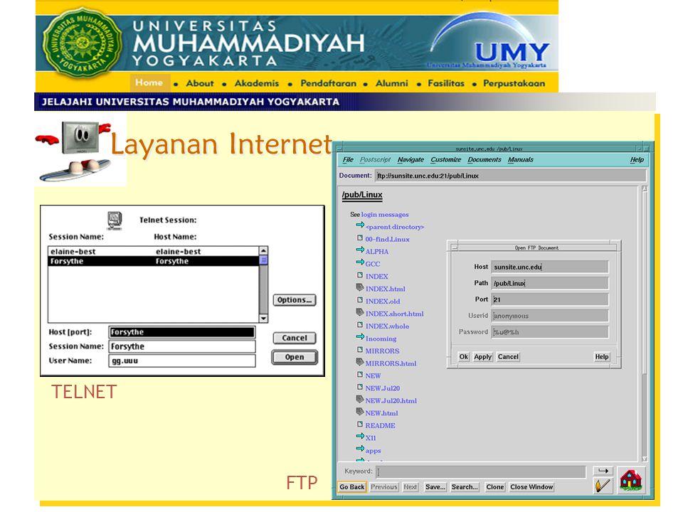 Layanan Internet TELNET FTP
