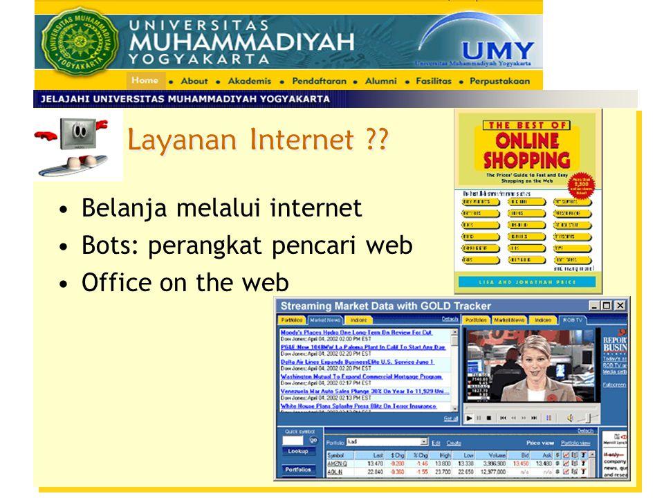 Layanan Internet ?? Belanja melalui internet Bots: perangkat pencari web Office on the web