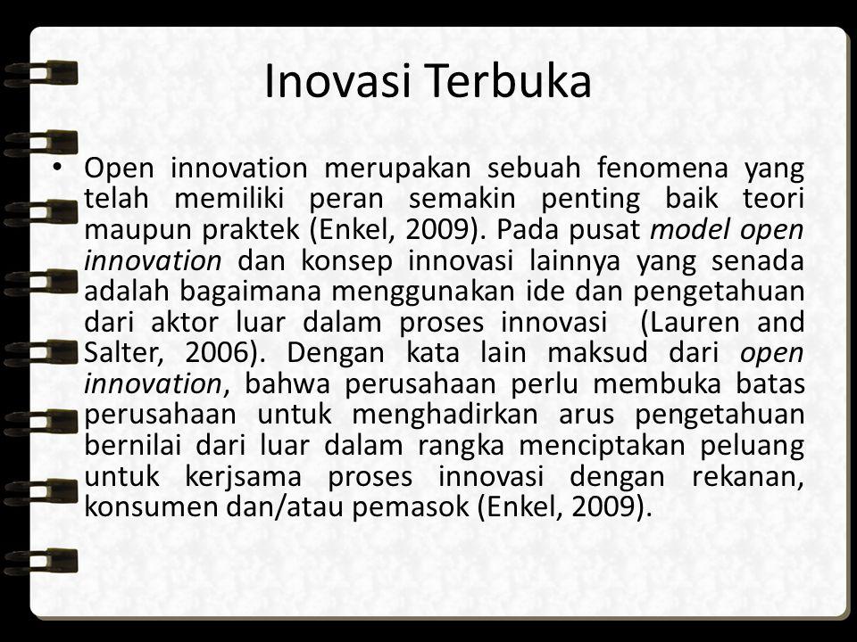Closed innovation vs Open innovation Konsep-konsep ini secara implisit berasumsi bahwa semua kegiatan ini dilakukan dalam perusahaan.