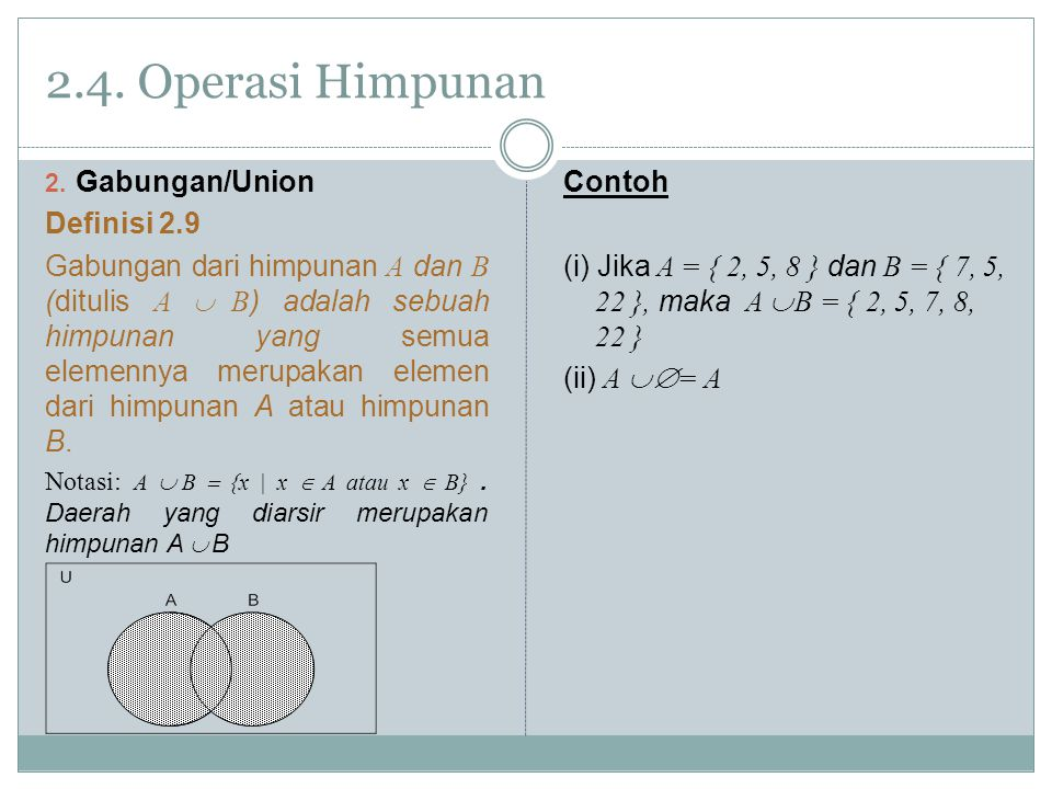 2.4.Operasi Himpunan 2.