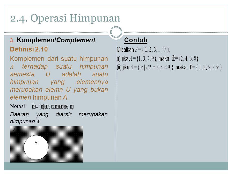 2.4.Operasi Himpunan 3.